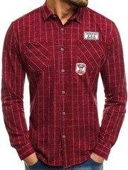 Northist 2505 Červená Pánská Košile 314c5bd523