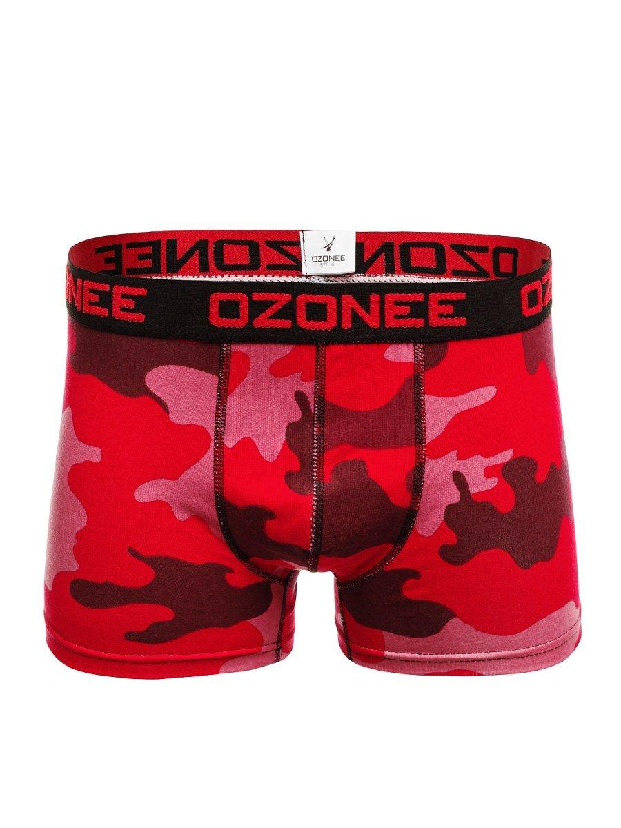 1084cce5bd Ozonee 0953 Pánské Boxerky Červené-Maskáčové ...