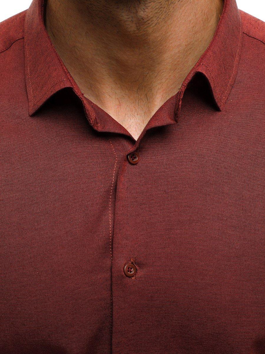 9432cd8fe46 CSS 001 Pánská Košile Vínová ...