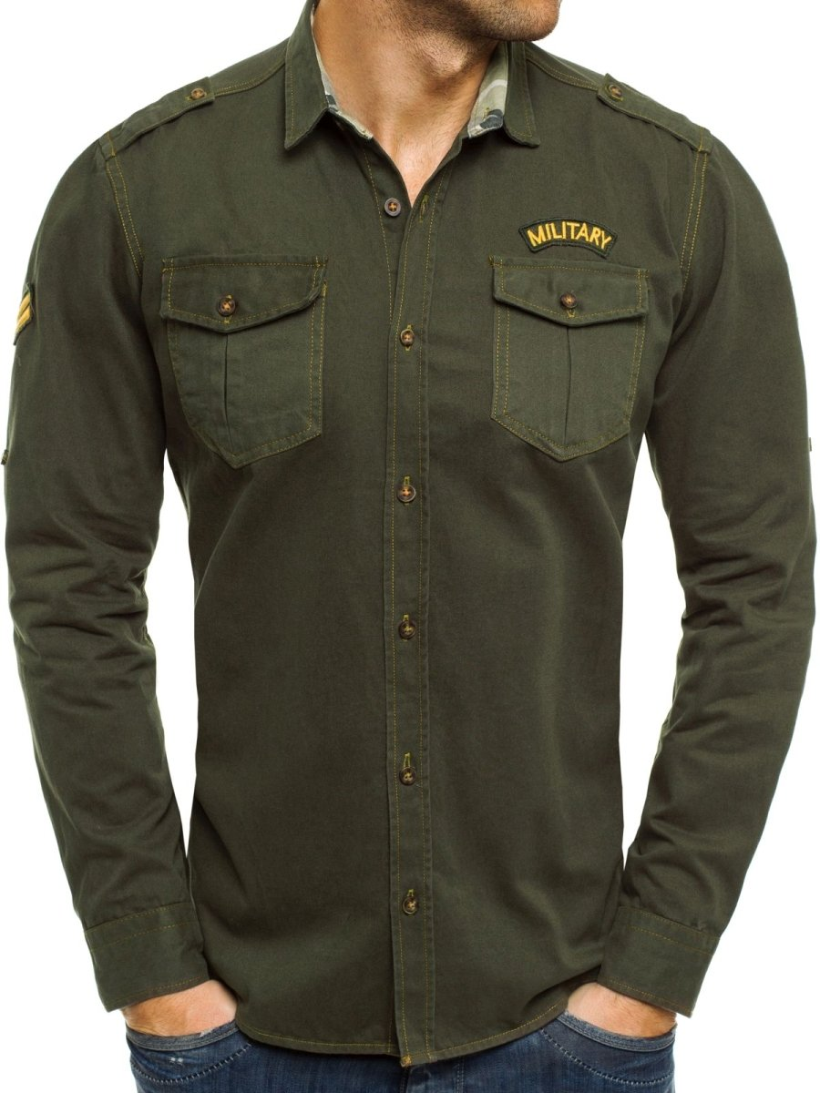 e84e8daa718 ... North 2504 Zelená Pánská Košile ...