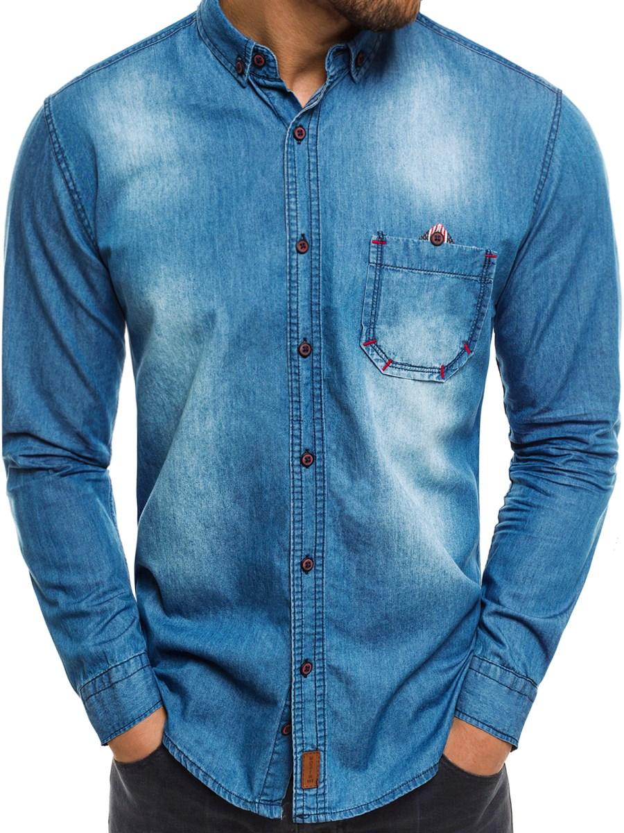 ... Northist 2054 Světle-Modrá Pánská Košile ... 14cbad9f7d