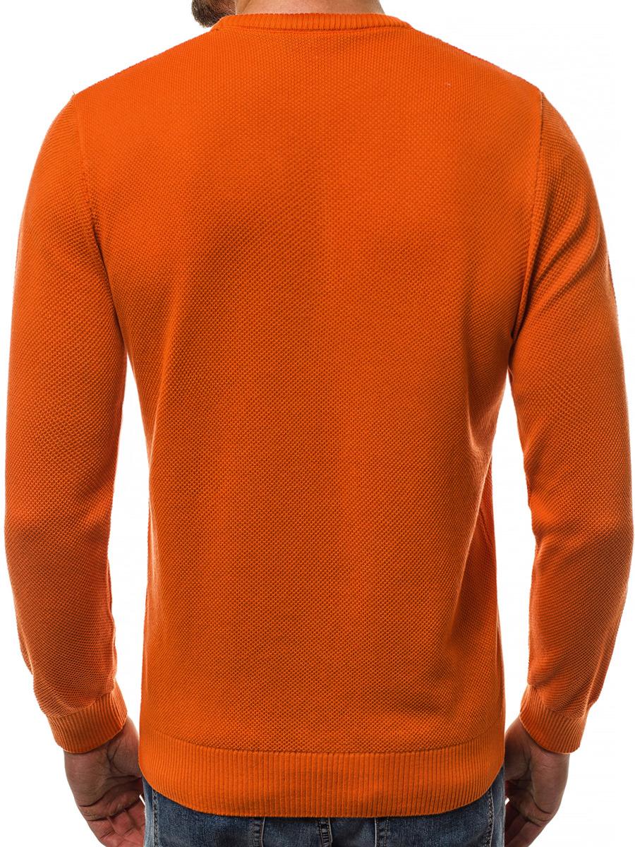 8b7882d11af7 ... OZONEE B 2433 Pánský Svetr Oranžový ...