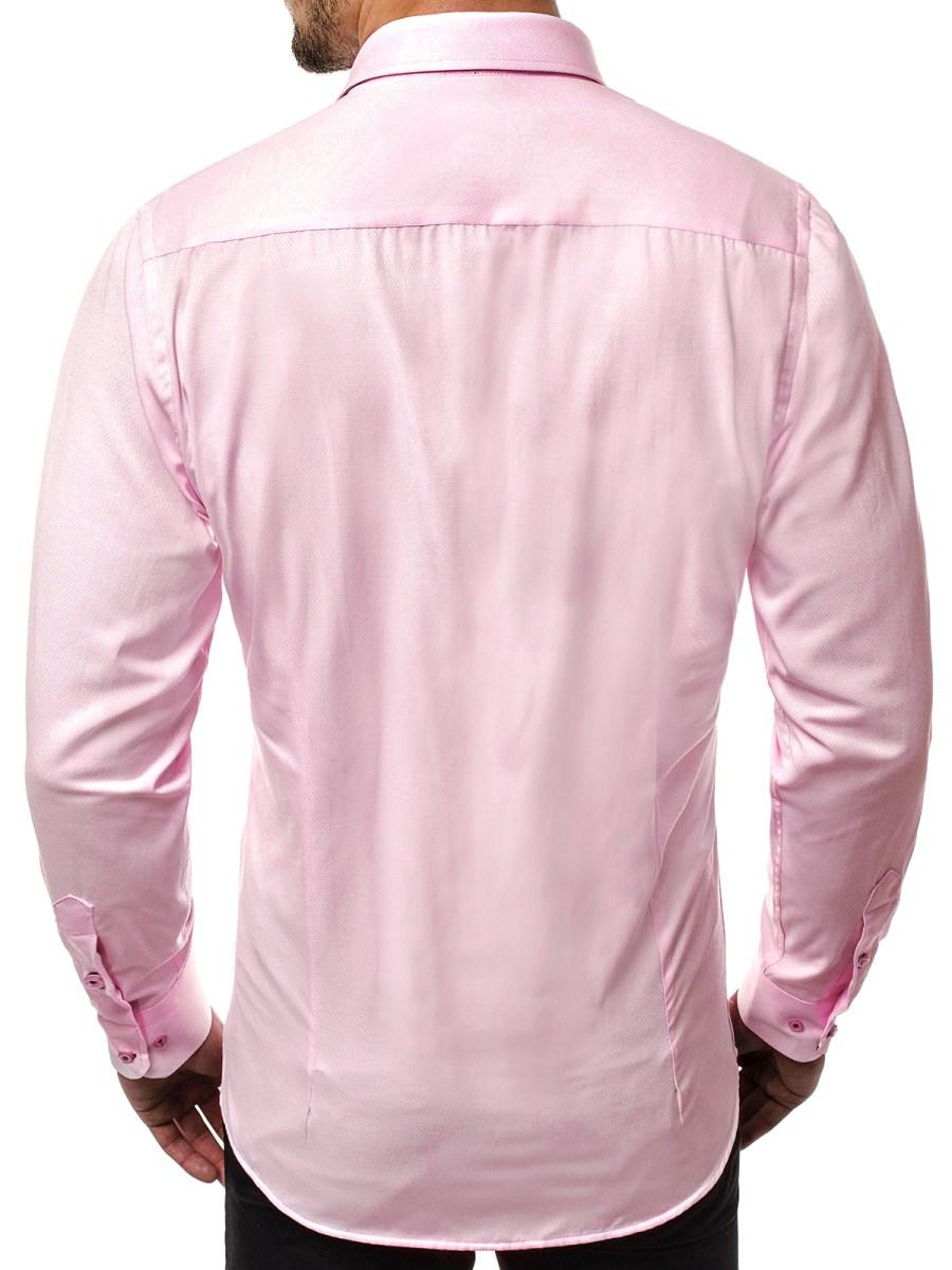 99d4576bf74 ... OZONEE P K20 Pánská Košile Růžová ...