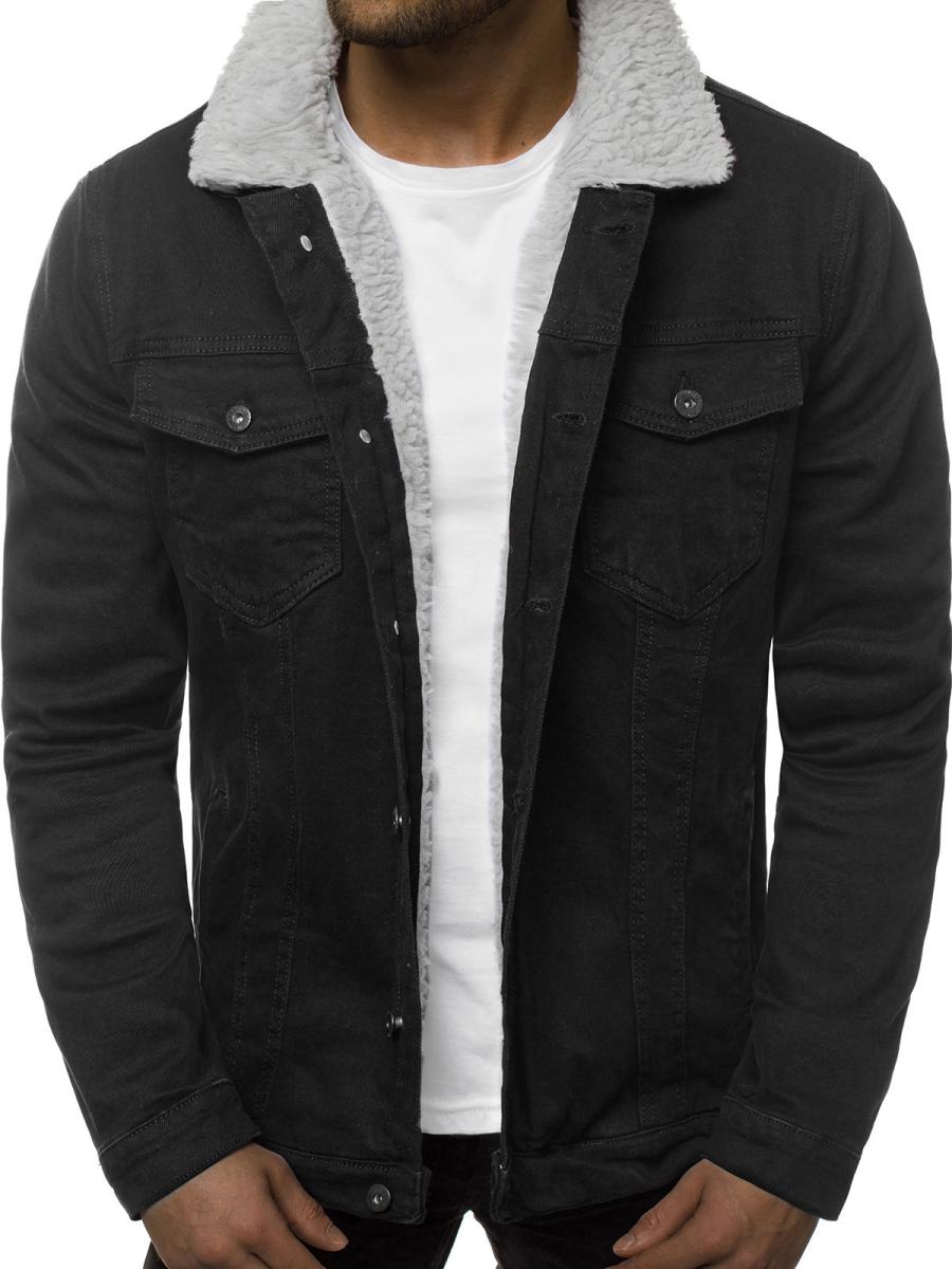černá džínová bunda